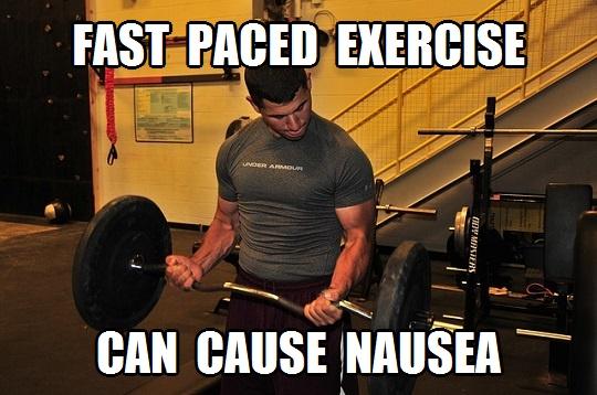 workout nausea