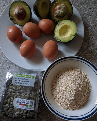 avocado pancakes ingredients