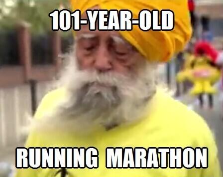 101-year-old running marathon