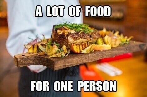 big food portion