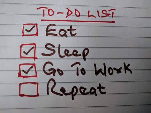 routine to-do list