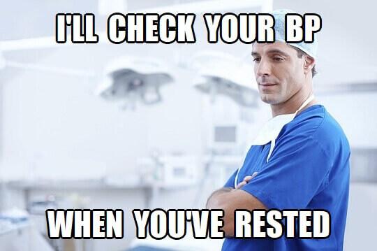 resting blood pressure