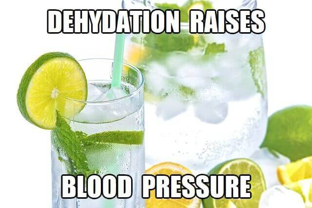 does dehydration affect blood pressure